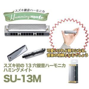 【ポイント10倍】SUZUKI SU-13M/C調、Am調 スズキ初の13穴複音ハーモニカ aion