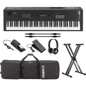 YAMAHA MX88(専用ソフトケース+ペダル2種+純正ヘッドホン+スタンド付7点セット) ピアノ・シンセサイザー/送料無料・代金引換不可|aion