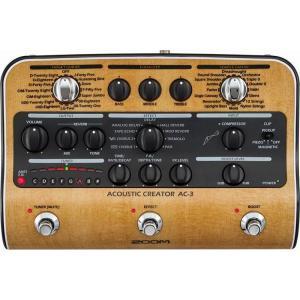 【限定ZOOMピック2枚付】ZOOM AC-3(ACアダプター付属) ピックアップで失われたボディ鳴りを再現 Acoustic Creator|aion
