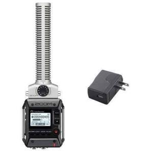 ZOOM F1-SP(純正ACアダプター/AD-17付) 軽量コンパクトなフィールドレコーダー+超指向性ショットガンマイク|aion
