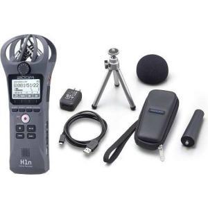 ZOOM H1n/G/グレー(アクセサリパッケージ/APH-1n付) XYステレオマイク搭載ハンディレコーダー|aion