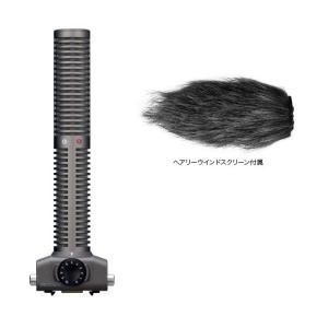 ZOOM SSH-6 H5/H6/Q8用ステレオ・ショットガンマイク/ヘアリーウィンドスクリーン付|aion