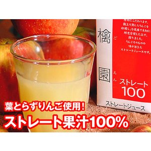 りんごジュース ストレート 林檎園 6本セット 葉とらずりんご 送料無料|aionline-japan
