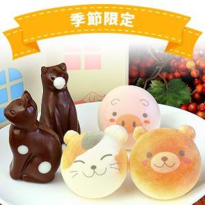 お絵かきマカロン 動物っこ & ねこチョコレート 合計5個 詰め合わせ お家の箱入り | かわいい お菓子 スイーツ おかし|aionline-japan