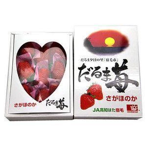 だるま苺 さがほのか 佐賀ほのか いちご 苺 高知県産 約450g 化粧箱入り 送料無料|aionline-japan