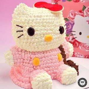ハローキティ 立体ケーキ 約8〜10人分 3Dデコレーション Hello Kittyのキャラクターケーキ 子供 かわいい スイーツ|aionline-japan