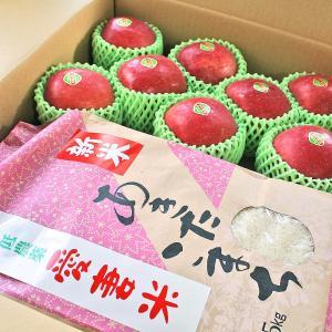 新米 ふるさと ギフト 親ごころ 岩手県産 あきたこまち 精米 約5kg 季節のりんご 約8玉 セット|aionline-japan