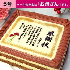 母の日 ケーキ ギフト ケーキで感謝状 カーネーション お母さん 5号 ありがとう 感謝 メッセージ プレゼント スイーツ お菓子 贈り物|aionline-japan