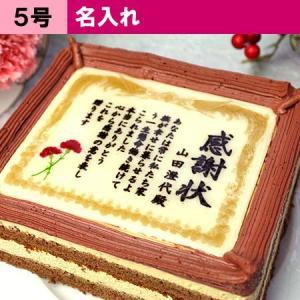 母の日 ギフト ケーキで感謝状 カーネーション 名入れ 5号 | 母の日限定 感謝 ありがとう メッセージ ケーキ|aionline-japan
