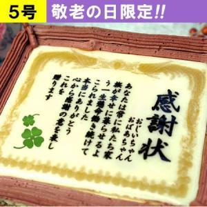 敬老の日 名入れ ケーキ ギフト ケーキで感謝状 5号 メッセージ 贈り物 スイーツ プレゼント お菓子|aionline-japan