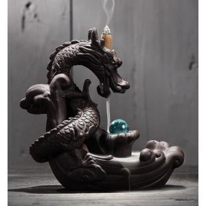 龍のお香スタンド 竜のお香スタンド 倒流香 陶器 ドラゴン インテリア モダン 雑貨 おしゃれ エス...