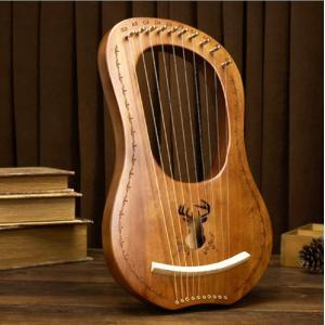 ハープ 木製 鹿 ライアーハープ 10弦 金属弦 竪琴ハープ 弦楽器 ハープ 楽器 初心者向け 心癒...