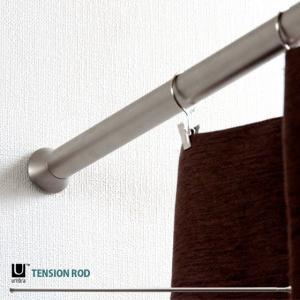 カーテンレール つっぱり棒 ハンガーラック つっぱり 突っ張り 伸縮 カーテン 穴あけ不要 簡単取り付け Lサイズ(137cm〜229cm)|air-r
