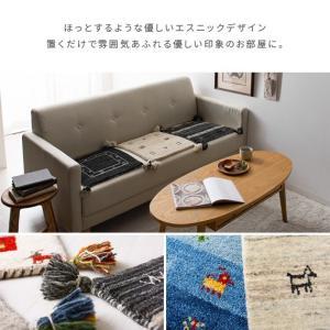 チェアパッド 四角 40 おしゃれ チェアクッション 座布団 クッション シートクッション 椅子用 かわいい ギャッベ エスニック 柄 ギャッベチェアパッド|air-r|05