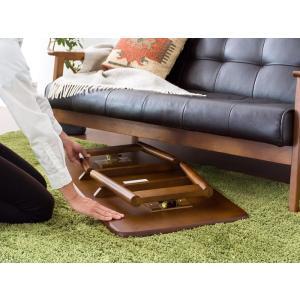 ローテーブル リビングテーブル 折りたたみテーブル センターテーブル おしゃれ 木製 北欧 シンプル モダン ウォールナット ブラウン ナチュラル air-r 07