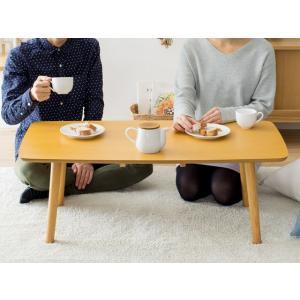 ローテーブル リビングテーブル 折りたたみテーブル センターテーブル おしゃれ 木製 北欧 シンプル モダン ウォールナット ブラウン ナチュラル air-r 08