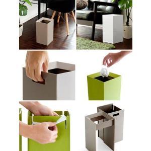 ゴミ箱 おしゃれ ダストボックス リビング 角型 ごみ箱 シンプル モダン 9L かわいい シンプル 北欧 インテリア 雑貨 ゴミ袋が見えない air-r 02