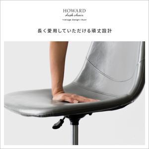 デスクチェア オフィスチェア おしゃれ パソコンチェア レザー 革 椅子 イス 回転 昇降式 キャスター付き ヴィンテージ インダストリアル ワークチェア|air-r|14