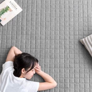 ラグ ラグマット 洗える おしゃれ キルトラグ カーペット キルティングラグ 抗菌 防臭 床暖 ホットカーペット対応 らぐ 200×250cm エア・リゾームインテリア