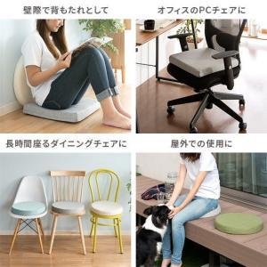 座布団 クッション おしゃれ 低反発 高反発 フロアクッション 円形 正方形 座椅子 座イス 北欧 シンプル 布地 スウェット コットン ウレタンクッション|air-r|15