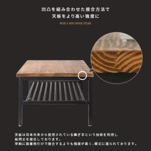 ローテーブル リビングテーブル おしゃれ 木製 センターテーブル 収納 棚付き リビング テーブル ブルックリン ヴィンテージ カフェテーブル インダストリアル air-r 12