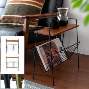 サイドテーブル おしゃれ 木製 ソファーサイドテーブル 北欧 収納付き スリム ベッドサイドテーブル ソファーテーブル リビング 寝室 ヴィンテージ ブルックリン air-r