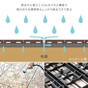 フロアタイル フロアパネル はめ込み おしゃれ フロアータイル フロアーパネル ベランダ テラス バルコニー 屋外 DIY 床材 ジョイントタイル 60×30cm 5枚セット|air-r|12