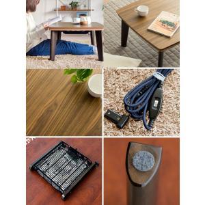 こたつテーブル 長方形 90cm幅 おしゃれ こたつ本体 コタツテーブル 木製 北欧 炬燵 rローテーブル リビングテーブル モダン シンプル ミッドセンチュリー|air-r|02