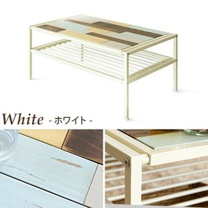 ローテーブル リビングテーブル センターテーブル おしゃれ 木製 収納 棚付き 長方形 西海岸 ヴィンテージ 天然木 カフェテーブル アイアン ブルックリン|air-r|03