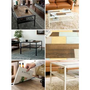 ローテーブル リビングテーブル センターテーブル おしゃれ 木製 収納 棚付き 長方形 西海岸 ヴィンテージ 天然木 カフェテーブル アイアン ブルックリン|air-r|04