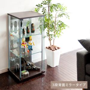 コレクションケース ガラス コレクション棚 コレクションラック フィギュアケース コレクションボード ディスプレイラック 3段背面ミラータイプ シンプルの写真