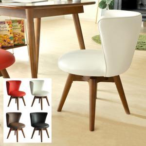 ダイニングチェア おしゃれ 回転 ダイニングチェアー 椅子 イス 北欧 レザー 木製 モダン シンプル 人気 食卓椅子 白 ホワイト ブラック レッド ブラウン|air-r