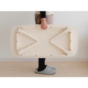 テーブル ローテーブル 折りたたみ 木製 センターテーブル リビングテーブル 90 北欧 ちゃぶ台 かわいい おしゃれ ナチュラル 折れ脚 人気 白 カフェ|air-r|04