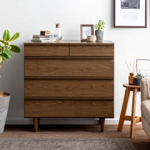 チェスト 木製 4段 おしゃれ 引き出し 幅80 北欧 ローチェスト タンス シンプル 衣類収納 リビング 寝室 人気 収納家具の写真