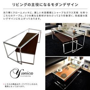 ローテーブル リビングテーブル ガラス 木製 ガラステーブル おしゃれ ネストテーブル センターテーブル 北欧 シンプル モダン ローネストテーブル|air-r|02