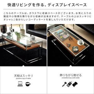ローテーブル リビングテーブル ガラス 木製 ガラステーブル おしゃれ ネストテーブル センターテーブル 北欧 シンプル モダン ローネストテーブル|air-r|03