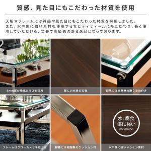 ローテーブル リビングテーブル ガラス 木製 ガラステーブル おしゃれ ネストテーブル センターテーブル 北欧 シンプル モダン ローネストテーブル|air-r|06