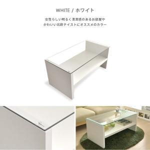ローテーブル リビングテーブル おしゃれ 北欧 ガラス 木製 長方形 センターテーブル ガラステーブル 白 ホワイト ブラウン 収納 モダン シンプル|air-r|12