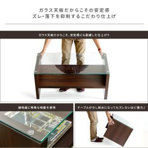 ローテーブル リビングテーブル おしゃれ 北欧 ガラス 木製 長方形 センターテーブル ガラステーブル 白 ホワイト ブラウン 収納 モダン シンプル|air-r|07