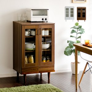 食器棚 おしゃれ 収納 ロータイプ カップボード 北欧 60cm幅 キッチン収納 キッチンラック キッチンボード 木製 モダン シンプル 大容量 キッチンキャビネット|air-r