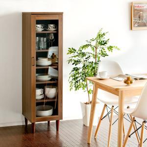 食器棚 幅40 カップボード おしゃれ 北欧 キッチン収納 キッチンラック ロータイプ スリム 省スペース シンプル モダン キッチンキャビネット 家具の写真