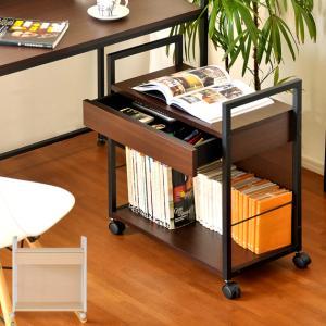 サイドワゴン デスクワゴン キャビネット オフィス家具 デスク 収納 キャスター付き 書類ワゴン チェスト シンプル モダン|air-r