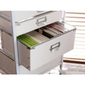 ラック チェスト 収納 ファイルラック キャスター付き 書類収納 書類ラック デスクサイド 収納ボックス|air-r|05