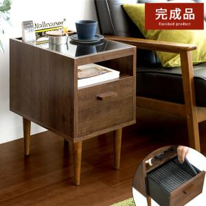 サイドテーブル おしゃれ 木製 北欧 ベッドサイドテーブル ソファーサイドテーブル 収納付き 引き出し ナイトテーブル チェストテーブル ソファーテーブル air-r