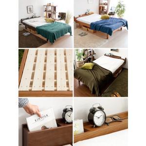 ベッドフレーム セミダブル コンセント スノコベッド すのこベッド 高さ調節 セミダブルベッド 木製 桐すのこベッド フレームのみ 北欧 おしゃれ マットレス無し|air-r|02