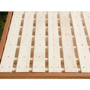 ベッドフレーム セミダブル コンセント スノコベッド すのこベッド 高さ調節 セミダブルベッド 木製 桐すのこベッド フレームのみ 北欧 おしゃれ マットレス無し|air-r|04