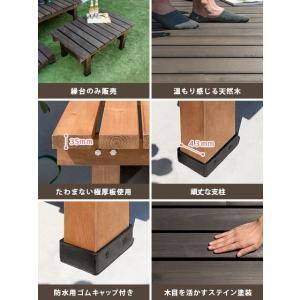 縁台 木製 おしゃれ 縁側 ウッドデッキ 90×58 天然木 ガーデンベンチ シンプル 縁台 庭 ベランダ ガーデン スリム90cm幅単体販売 送料無料 air-r 02