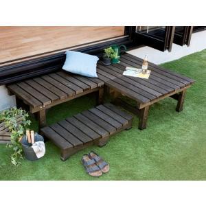 縁台 木製 おしゃれ 縁側 ウッドデッキ 90×58 天然木 ガーデンベンチ シンプル 縁台 庭 ベランダ ガーデン スリム90cm幅単体販売 送料無料 air-r 06