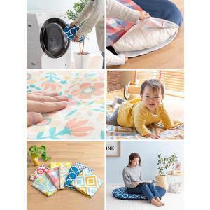 お昼寝マット せんべい 座布団 赤ちゃん 日本製 綿100% 洗える お昼寝クッション リビング おむつ替え ベビークッション かわいい ラージサイズ セット販売|air-r|06