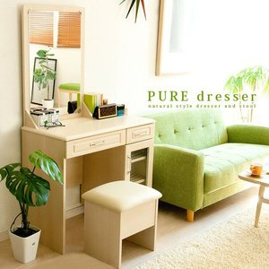 ドレッサー 椅子付き 北欧 テーブル 一面鏡 化粧台 ドレッサー 木製 おしゃれ 人気 シンプル 収納|air-r